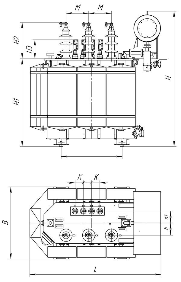 ТМ-1000кВА c ПБВ 35(20)/0,4кВ
